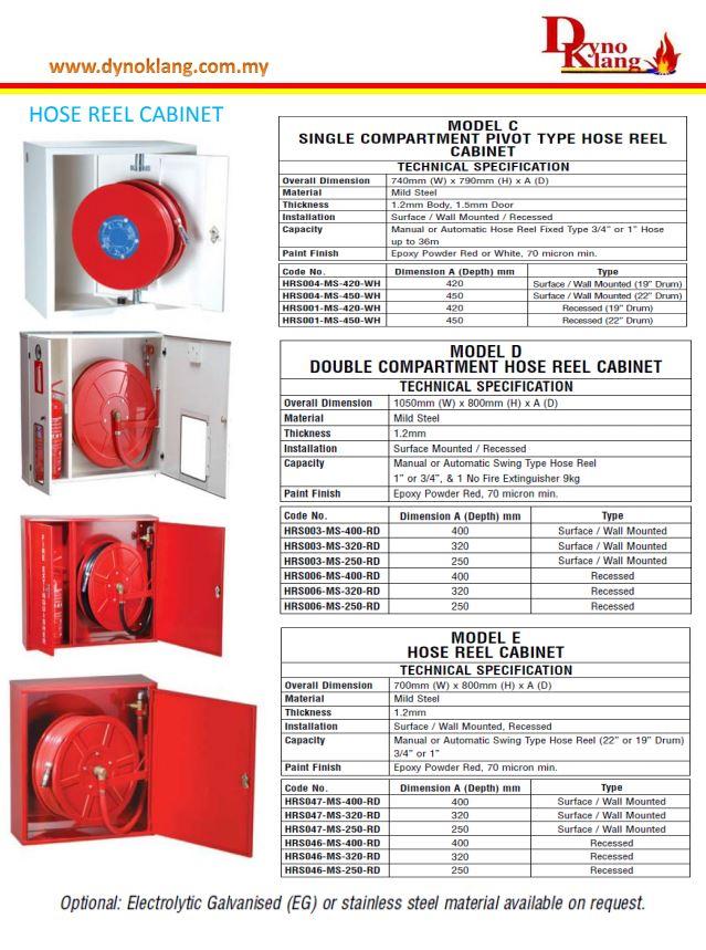 HOSE REEL CABINET (DYNO KLANG) - DYNO KLANG FIRE PROTECTION