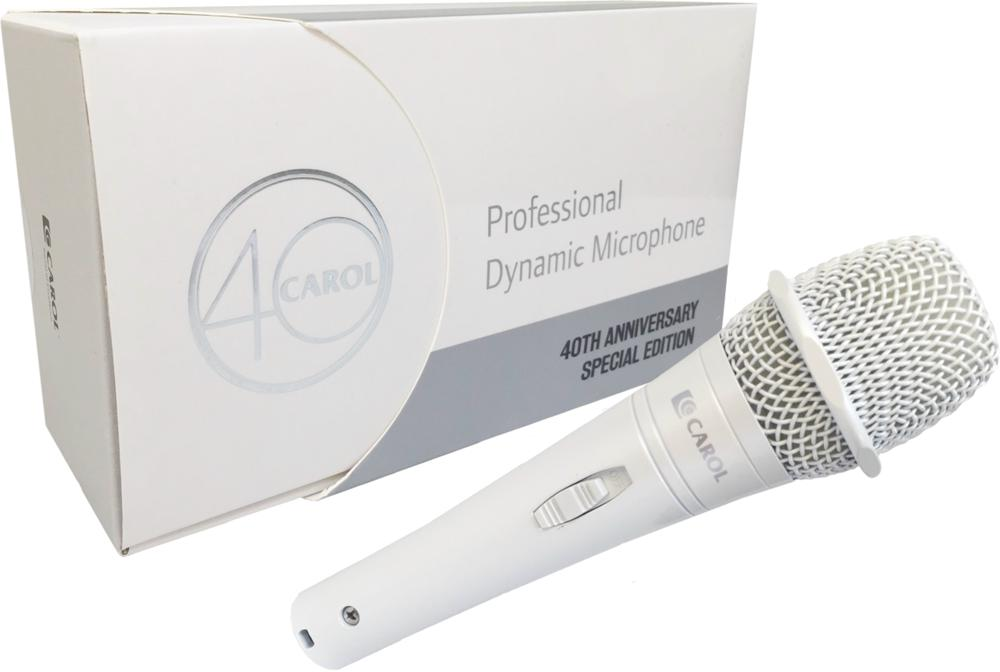 CAROL, CAROL PROFESSIONAL STAGE MICROPHONE PEARL WHITE