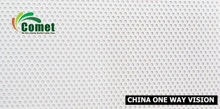 China One Way Vision (Black Base) 180 micron