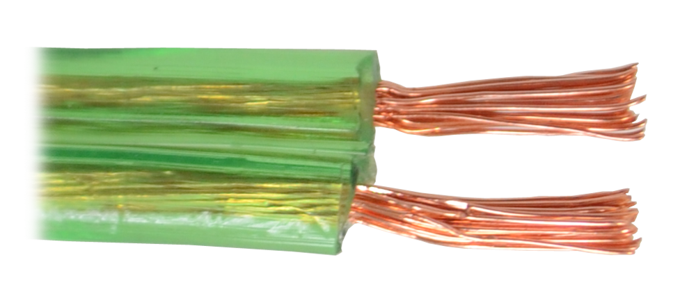 FAJAR CABLES SPEAKER CABLE 2X30/.18 100M (GREEN) - CBSPFA-2X3018#5