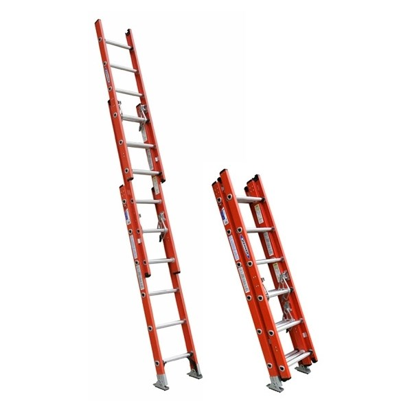 3 Section Ladder : Werner fiberglass three section extension ladder d