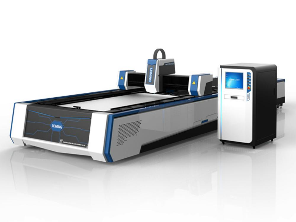 LEIMING 3015A3 industrial fiber laser cutting machine with exchange table