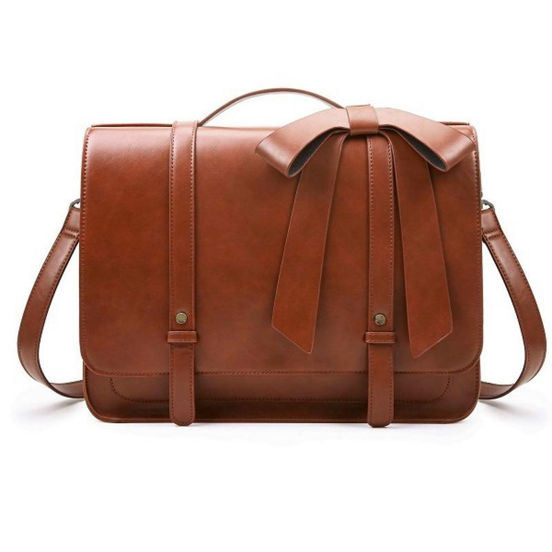 7d24abdf0b Ladies Briefcase PU Leather Laptop Backpack Shoulder Satchel Crossbody Bag  - ECOSUSI Inc