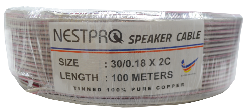 NESTPRO 2X30/.18 THINNED SPEAKER CABLE - CBSPNP-2X3018#T
