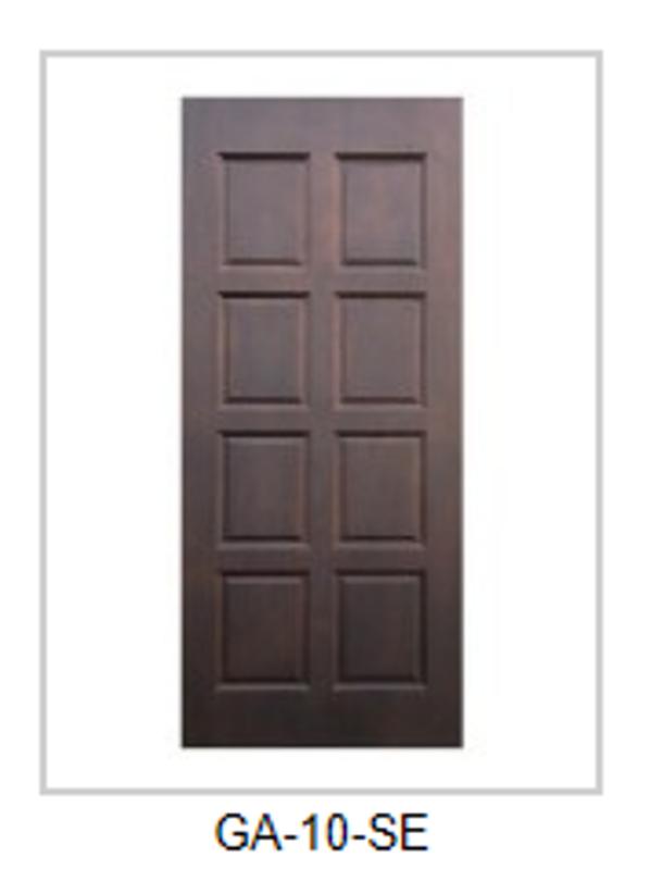 Solid Single Wood Entry Door-GA-10-SE