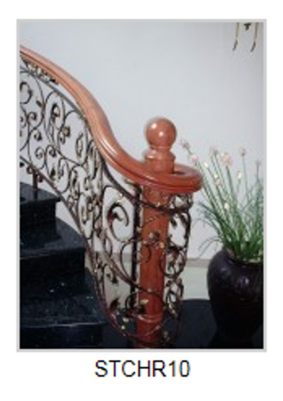 Solid Wood Staircase and Handrail-STCHR10