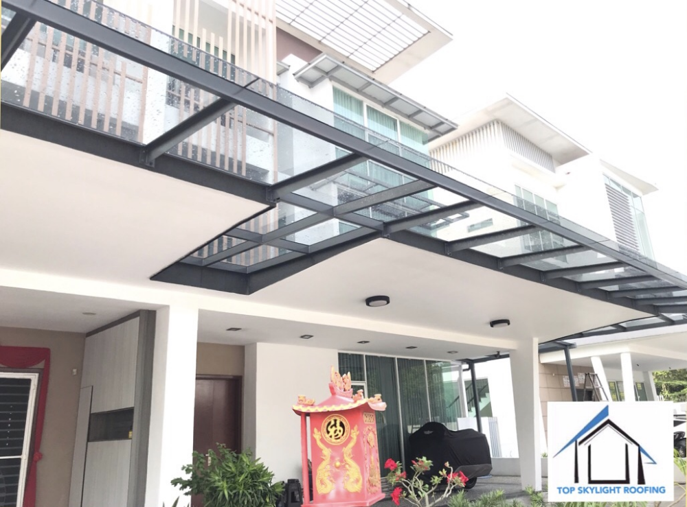 T Beam Glass Roof Top Skylight Roofing Selangor Malaysia