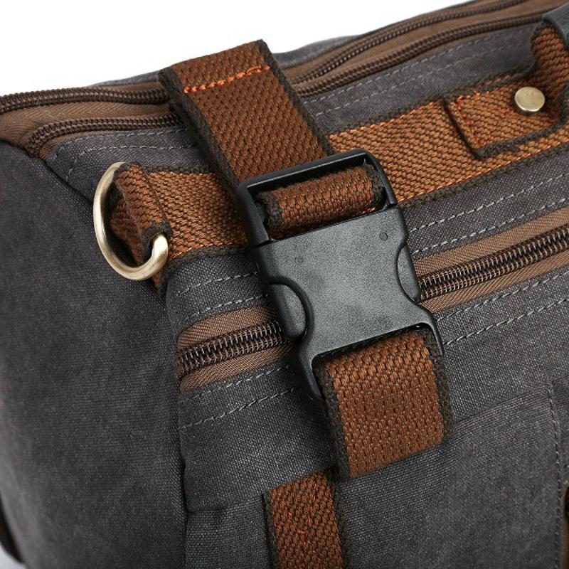 Vintage Canvas Tactical Backpack Multifunctional Shoulder Straps Travel Duffel Rucksack Hiking