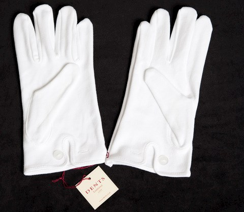 White Button Glove